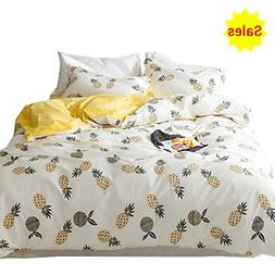 OTOB 100% Cotton Pineapple Bedding Sets Twin for Girls Teen