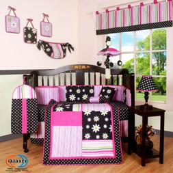 13PCS Charming Flower Baby Nursery Crib Bedding Sets - Holid