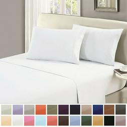 Mellanni 1 FLAT SHEET ONLY 1800 Hotel Collection Microfiber