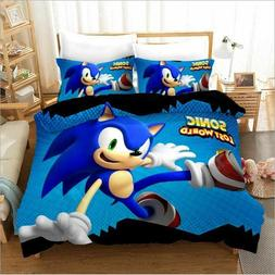3D Bedding Set Sonic The Hedgehog Duvet Cover King Queen Twi