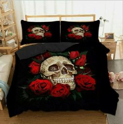 3d hot sale skull printing bedding sets