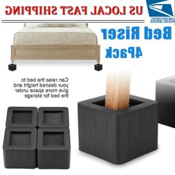 """4 Pack 3"""" Furniture Risers Non-Slip Bed Sofa Table Chair Ris"""