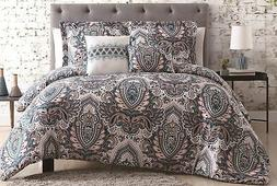 5pc Mandala Comforter Sets Queen, King, Blue Coral, Navy  be