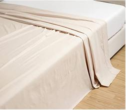Grand Linen 6-Pack Full Size, Ivory/Beige Solid Flat Bed She