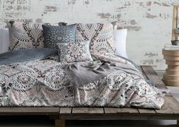 6 Piece Raina Light Coral Gray Comforter Set New Bedding Bed