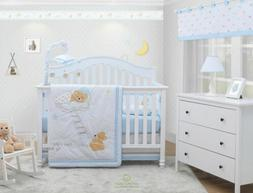 6-Piece Sweet DreamTeddy Bear Baby Boy Nursery Crib Bedding