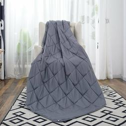 """60"""" x80"""" Weighted Blanket Full Queen Size Reduce Stress Prom"""