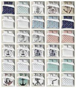 Anchor Duvet Cover Set Twin Queen King Sizes with Pillow Sha