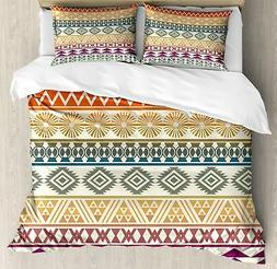 Aztec Duvet Cover Set Twin Queen King Sizes with Pillow Sham