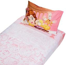 Beauty and the Beast Microfiber Twin Sheet Set Belle