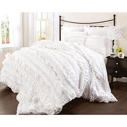 Lush Decor Belle 3 Piece Ruffled Comforter Set with Bed Skir