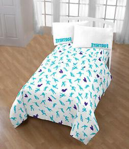 Fortnite Boogie Bedding Sheet Set Twin Or Full Size + Pillow