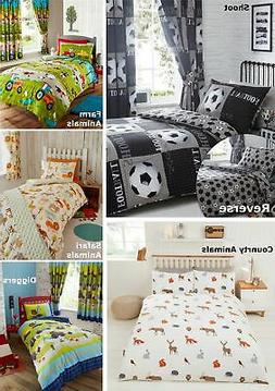 Boys Duvet Cover & Pillowcase Bedding Bed Sets Or Matching C