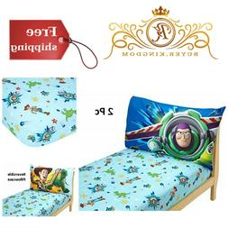 Boys Fitted Sheet And Pillowcase Toddler Sheet Set Toy Story