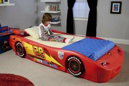 Cars Lightning McQueen Twin Bed with Lights Disney Bedroom F
