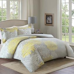 Comfort Duvet Cover Full/Queen Size - Yellow and Grey Beddin