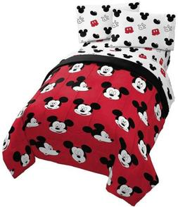 Jay Franco Disney Mickey Mouse Cute Faces 4 Piece Twin Bed S