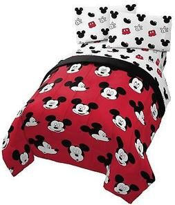 Jay Franco Disney Mickey Mouse Cute Faces Full Comforter - S