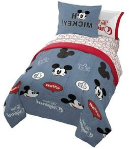 Jay Franco Disney Mickey Mouse Patches 7 Piece Full Bed Set