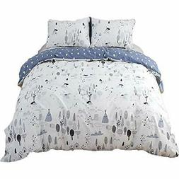 Forest Duvet Cover Sets Twin For Boys Girls Kids Woods Tree