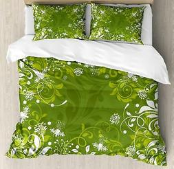 Green Ambesonne Duvet Cover Set Twin Queen King Sizes with P