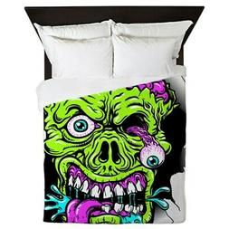 CafePress Green Zombie Head Queen Duvet