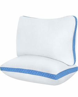 Utopia Bedding Gusseted Quilted Pillow 2 Pack Bed Pillows Si
