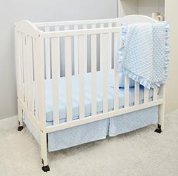 for Boys and Girls 1500SS-WT American Baby Company Heavenly Soft Minky Dot 4-Piece Crib Bedding Set White