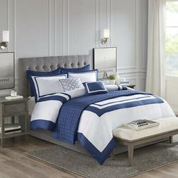 Madison Park Heritage 8 Piece Comforter and Coverlet Set Col