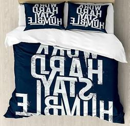 Inspirational Duvet Cover Set Twin Queen King Sizes with Pil