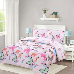 Kids Bedspread Quilts Set Throw Blanket for Teens Boys Girls