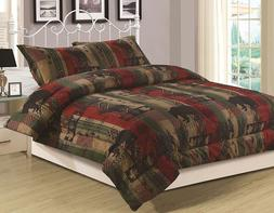 King, Queen or Twin Rustic Southwest Comforter Bedding Set B