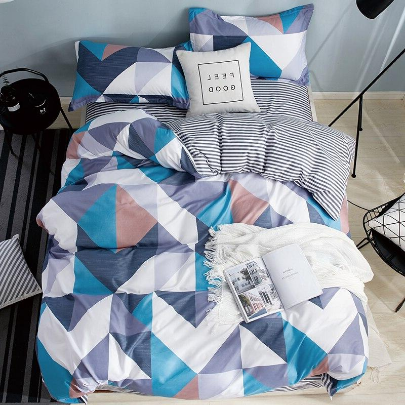 3/4 pcs Luxury <font><b>Bedding</b></font> <font><b>Sets</b></font> Pattern Bed Cotton/Polyester Cover Cover