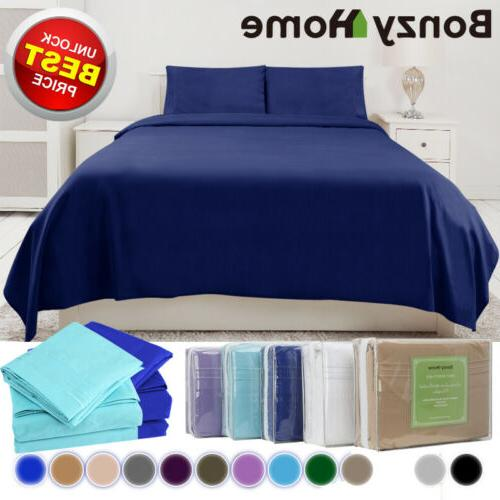 4/6 Piece Bed Set Deep Sheets Queen Full Bed Fitted