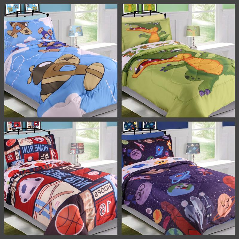5pc twin kids boys toddlers reversible printed