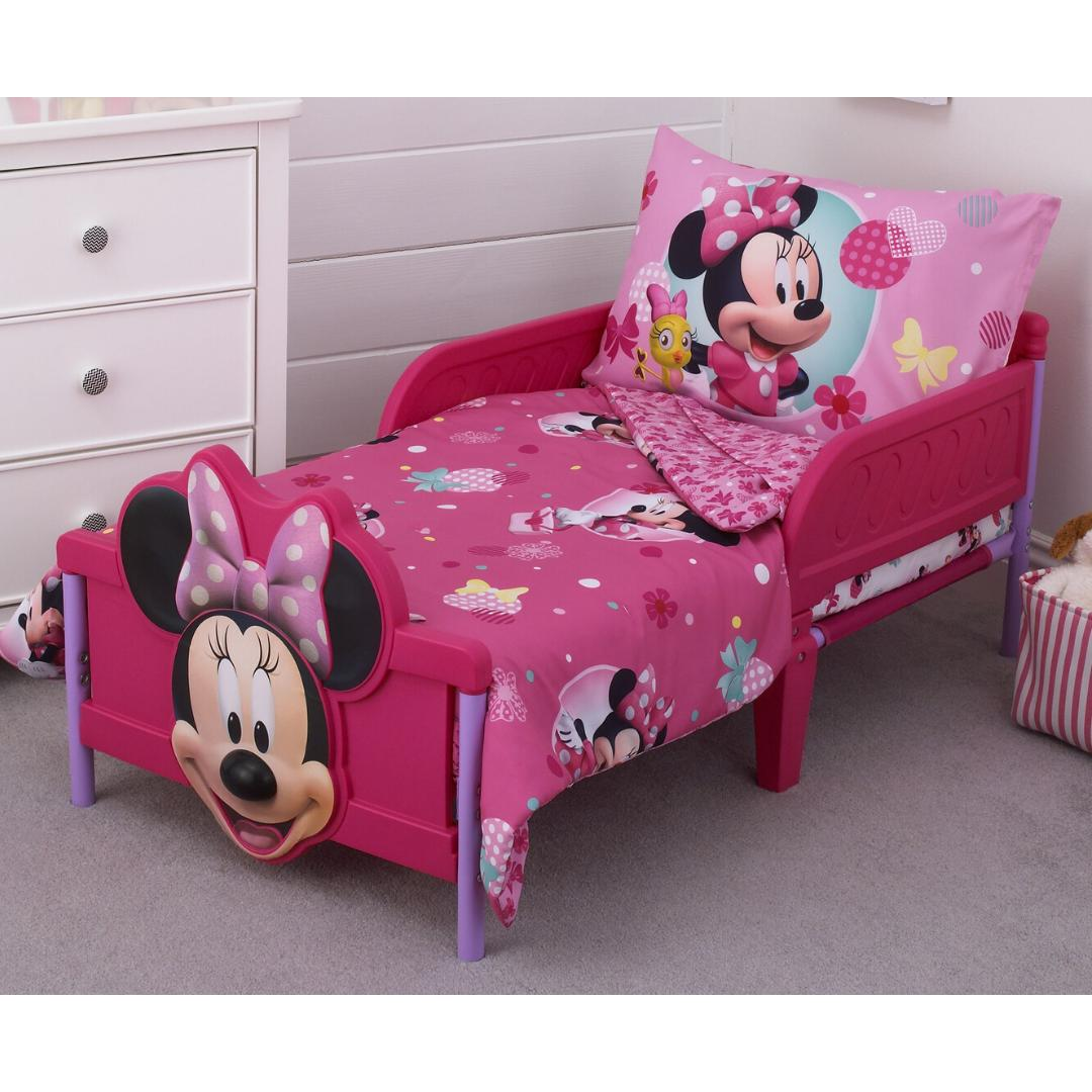 BEDDING Bed Sheet Pillowcase Kids Disney Minnie Mouse 4 Piece