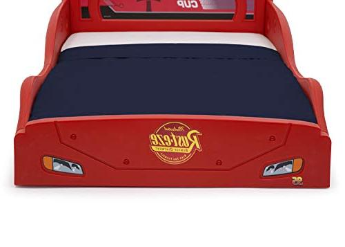 Disney Pixar Cars McQueen Race Car and Toddler with Attached Guardrails Delta Children