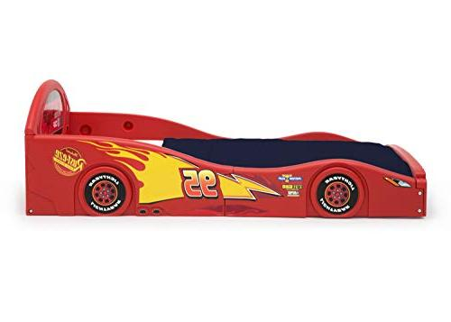 Disney Pixar McQueen Race Sleep and Toddler Bed with Attached Guardrails by Delta Children