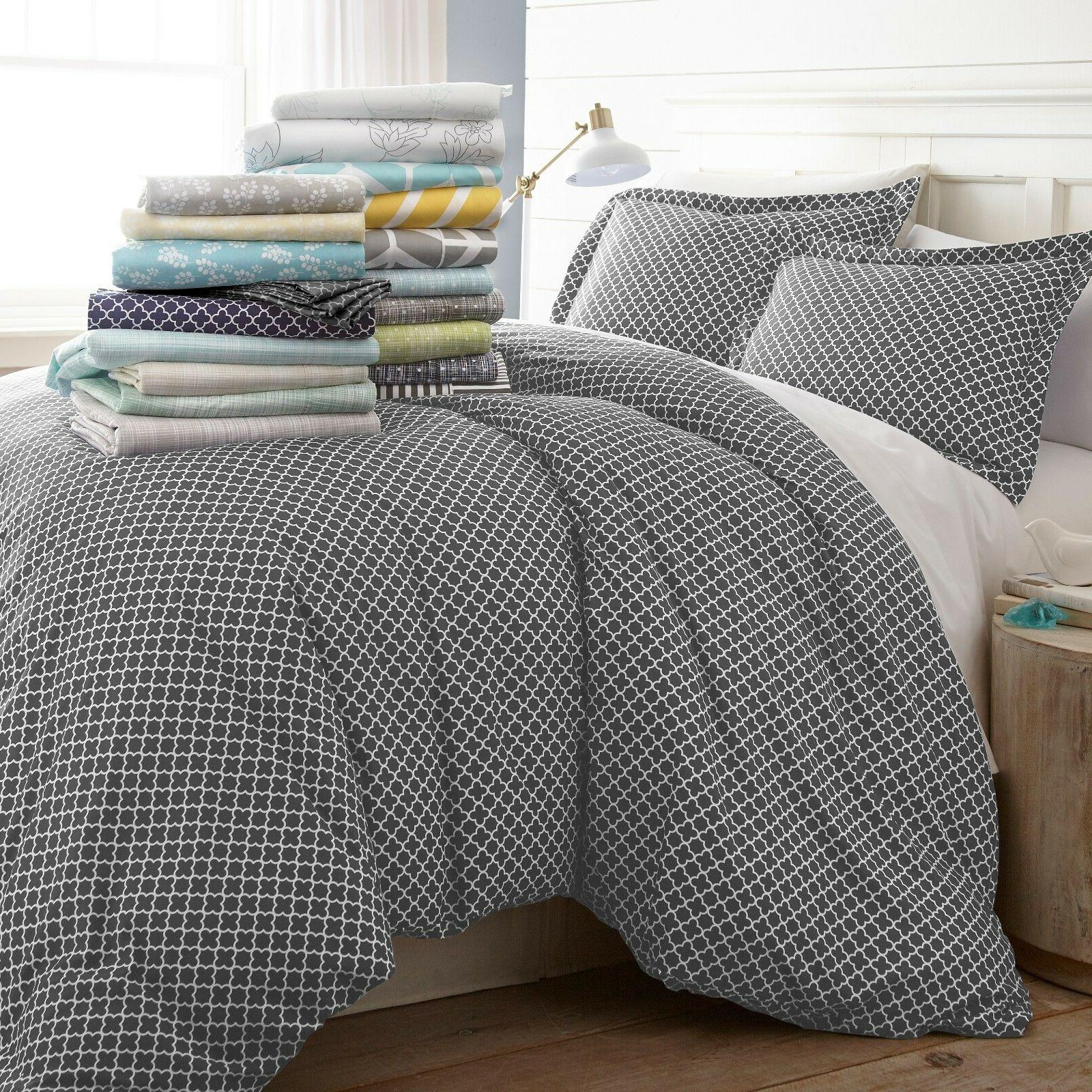 hotel luxury 3 piece patterned duvet cover