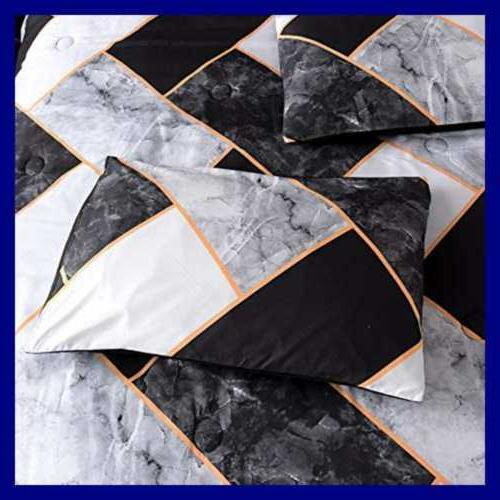 Marble Geometry Pattern Bedding Set For Woman