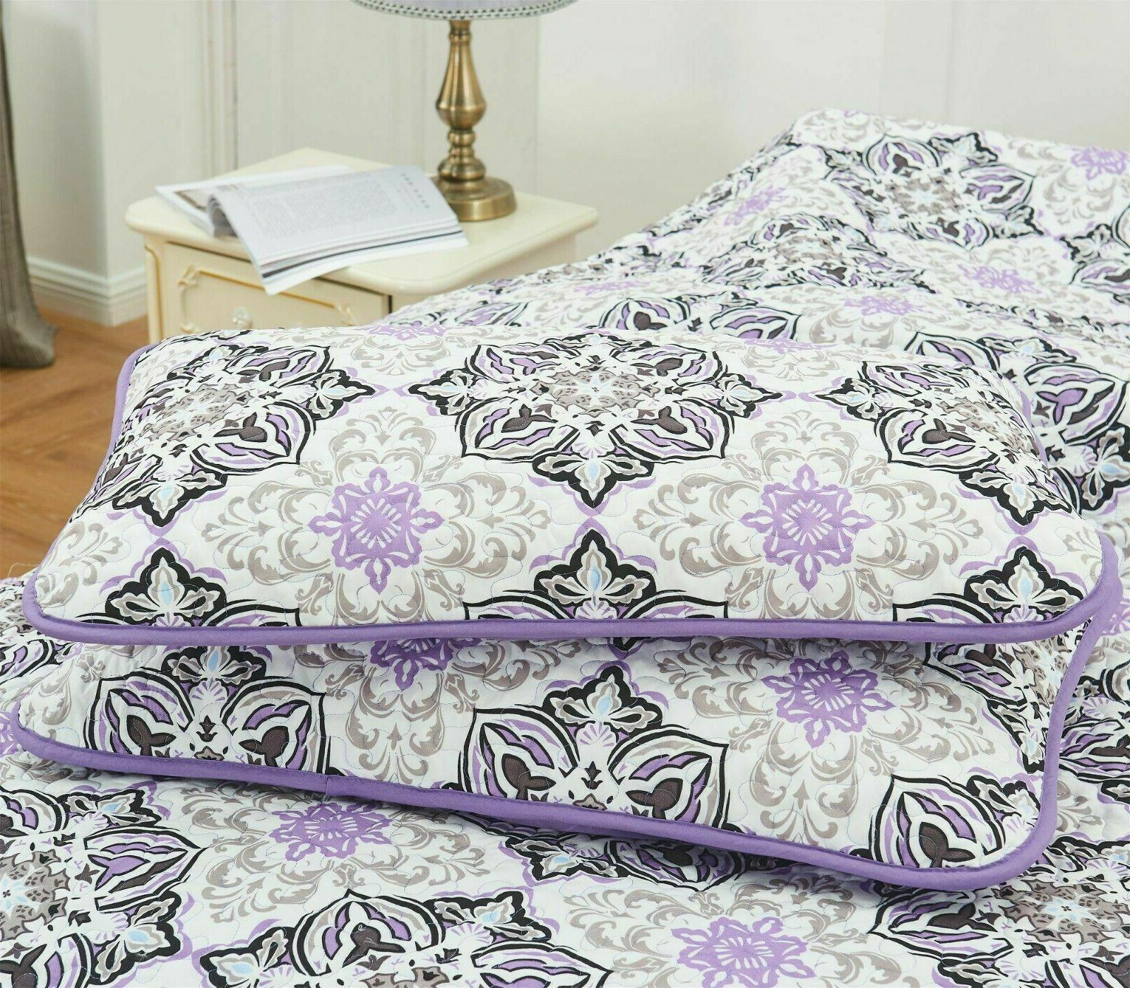 Queen Quilt Bedding Set Printed Quilt King Quilt Bedding Set