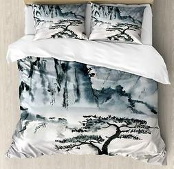 Lonely Tree Duvet Cover Set Twin Queen King Sizes with Pillo