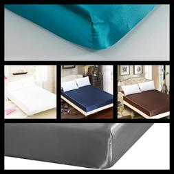 LUSTROUS SHINE & SILKY SATIN SOLID DRESSING BED FITTED SHEET