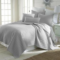 3PC MIDWEST NENA SOLID QUILT BEDDING BEDSPREAD COVERLET PILL