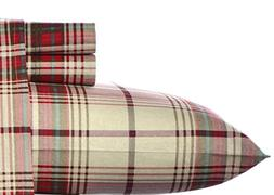 Eddie Bauer Flannel Sheet Set, King, Montlake Plaid