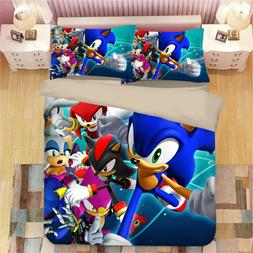 New pattern anime Sonic Bedding set Quilt Cover Pillowcases