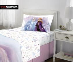 NEW Disney's Frozen II Kids Bed Sheet Set, Elsa & Anna, Spir