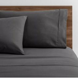 NWT Room Essentials Easy Care Solid Sheet Set XL/Twin Gray