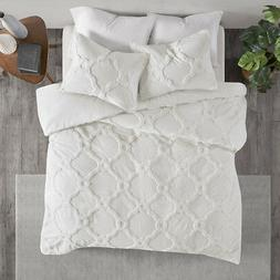Madison Park Pacey 3 Piece Tufted Cotton Chenille Geometric