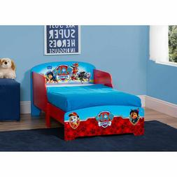 Paw Patrol Wood Toddler Bed For Boys With Safety Rails Moder